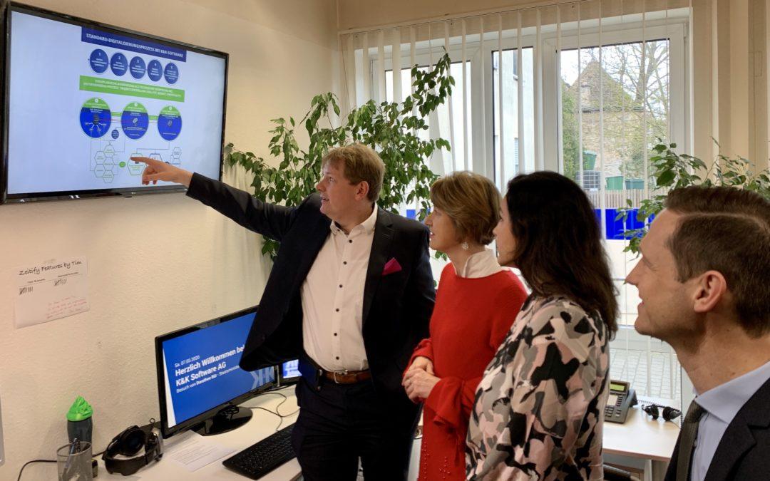 Diskussion mit Digitalministerin Dorothee Bär